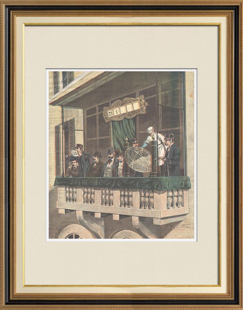 Gravures Anciennes & Dessins | Loterie à Rome - Intendenza di finanza (Italie) | Gravure sur bois | 1898