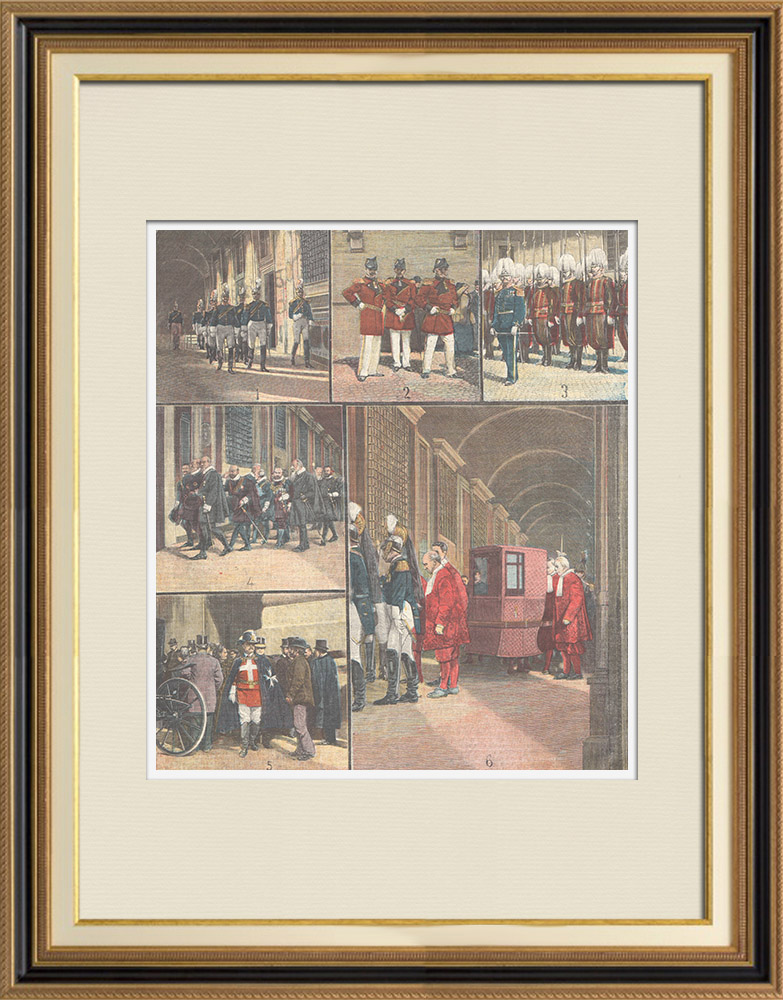 Antique Prints & Drawings | Scenes inside the Vatican - Costumes - Italy - XIXth Century | Wood engraving | 1898