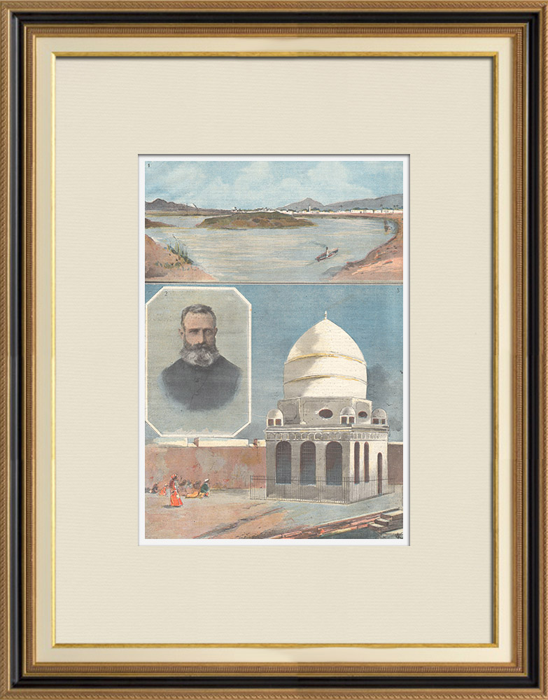 Antique Prints & Drawings   War Sudan - End of the Mahdist Empire in Africa - Sudan - 1898   Wood engraving   1898