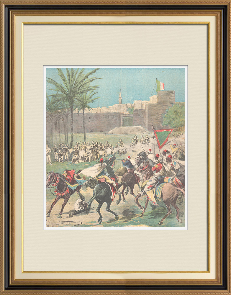 Antique Prints & Drawings | Events in Africa - Dervishes in Cassala - Sudan - 1896 | Wood engraving | 1896