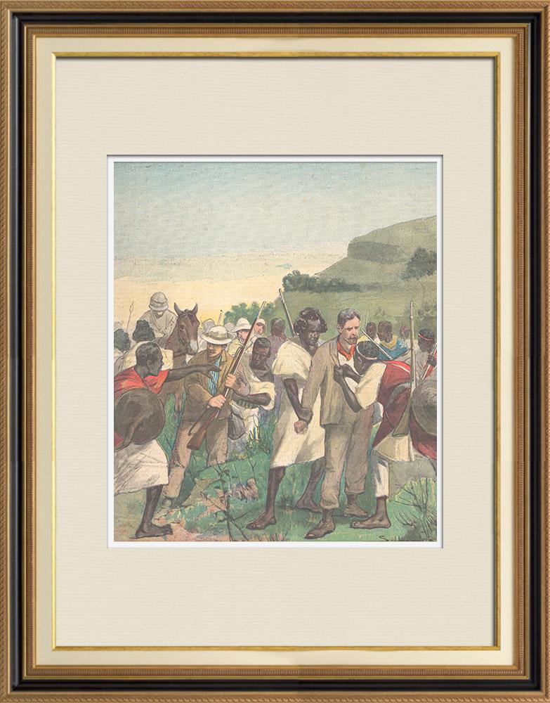 Antique Prints & Drawings   Italo-Ethiopian War - Assault of Ras Sebath Bands - Ethiopia - 1896   Wood engraving   1896
