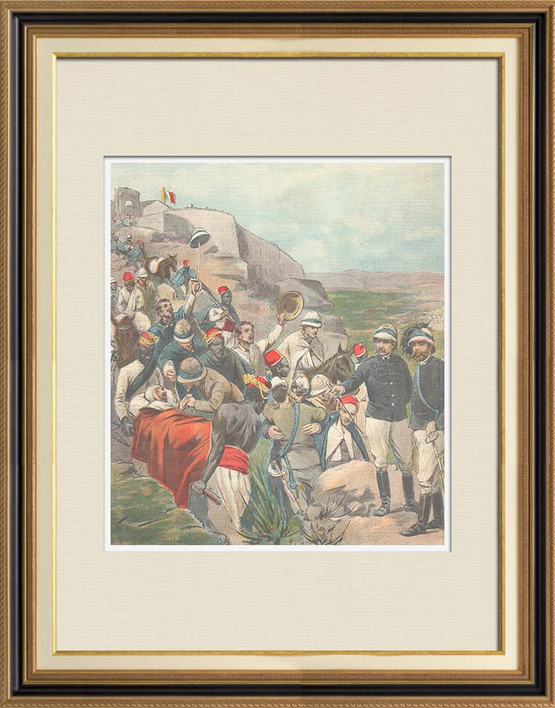 Antique Prints & Drawings | Italo-Ethiopian War - Liberation of Fort Adigrat - Baldissera - Prestinari - Ethiopia - 1896 | Wood engraving | 1896