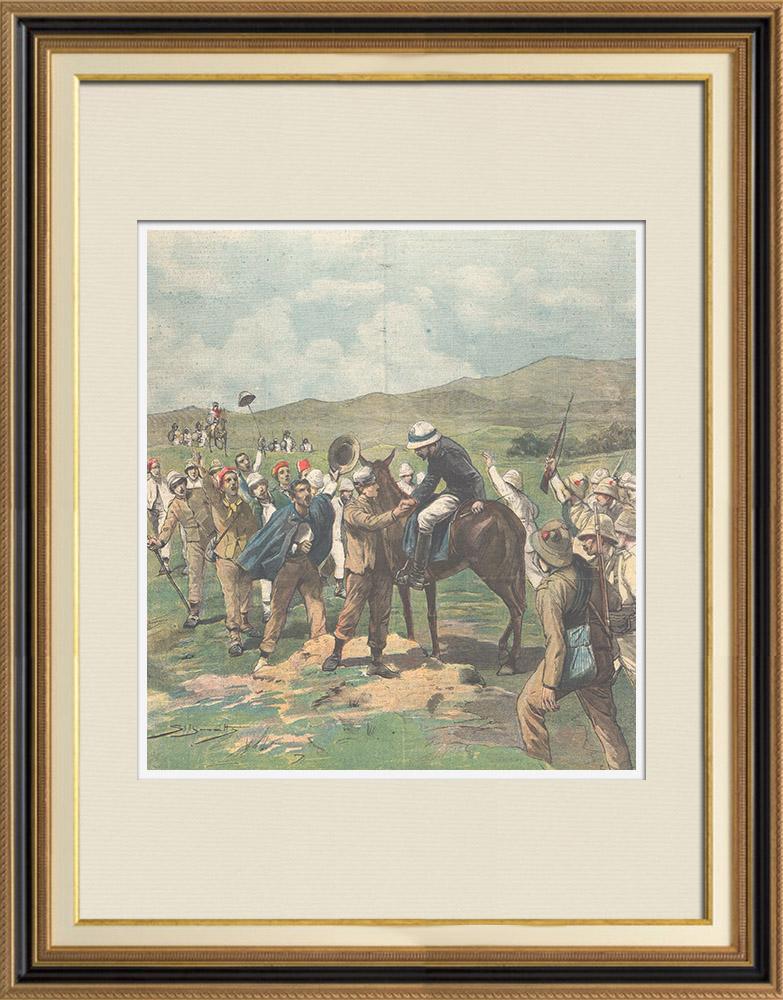 Antique Prints & Drawings | Italo-Ethiopian War - Restitution of Italian prisoners - Ethiopia - 1896 | Wood engraving | 1896