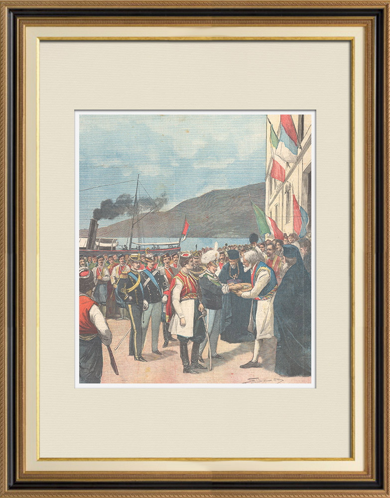 Antique Prints & Drawings | Marriage of the Prince of Naples and the Princess Elena of Montenegro - 1896 | Wood engraving | 1896