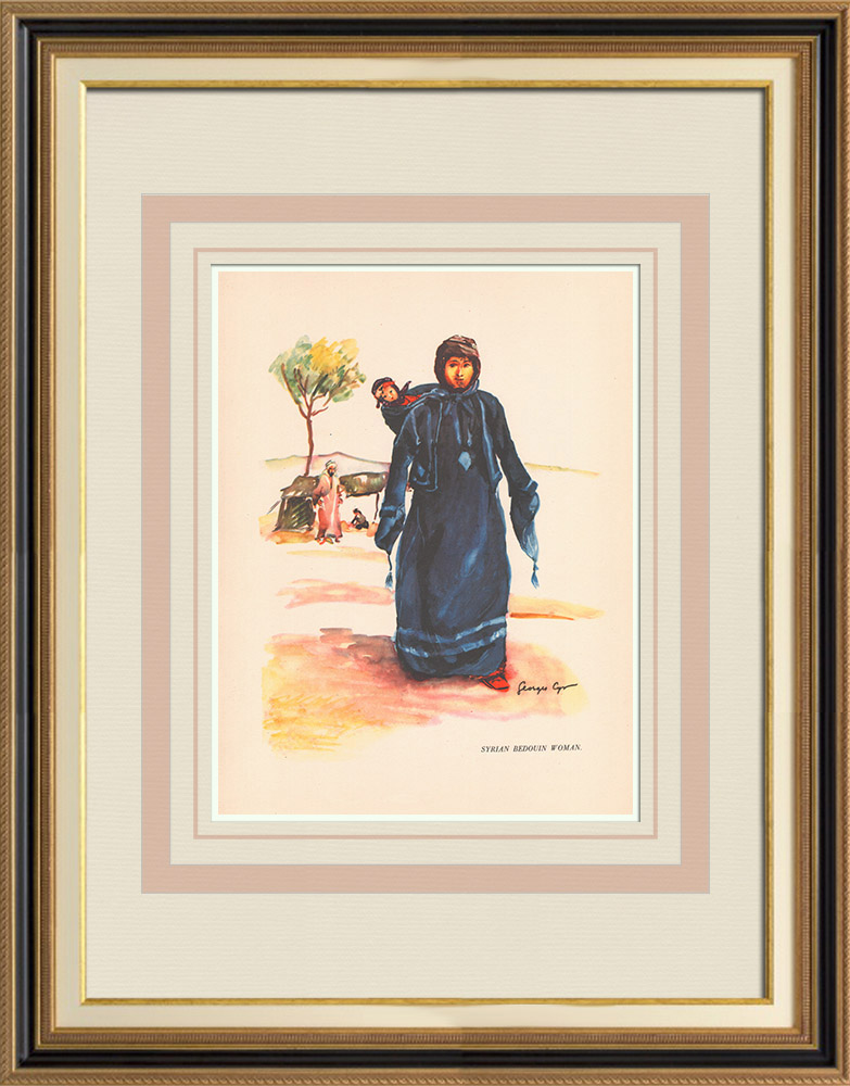 Antique Prints & Drawings | Syrian bedouin woman - Syria | Print | 1939
