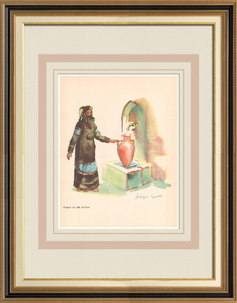 Antique Prints & Drawings | Woman from Hauran - Syrian Costume - Syria - Occidental Asia | Print | 1939