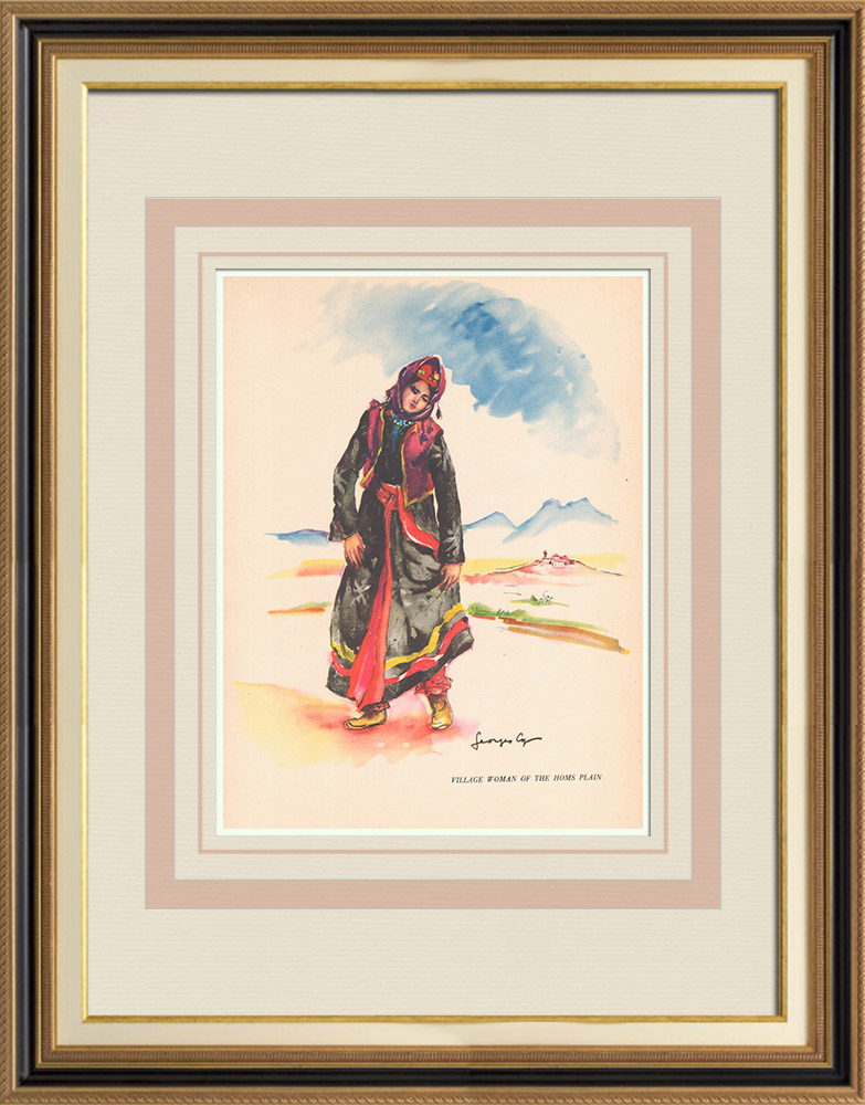 Antique Prints & Drawings | Village-woman from the Homs plain - Syria - Occidental Asia | Print | 1939