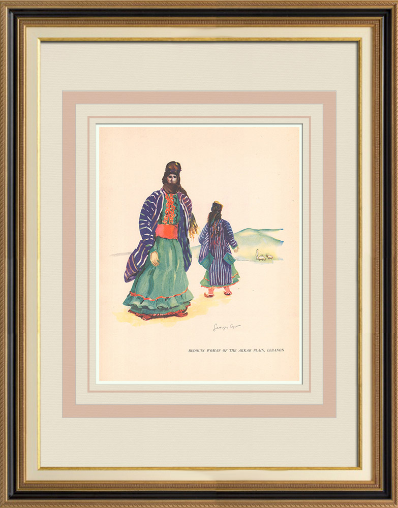 Antique Prints & Drawings   Bedouin woman from the plain of Akkar - Lebanon - Near East   Print   1939