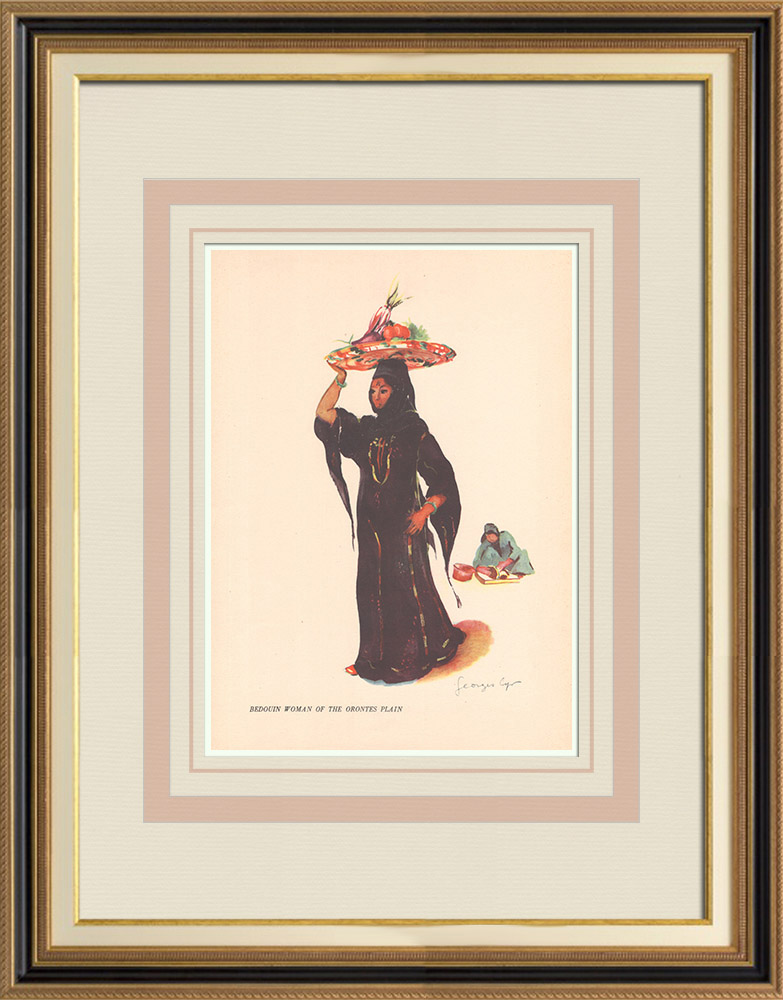 Antique Prints & Drawings   Bedouin woman from the plain of Orontes - Lebanon - Near East   Print   1939