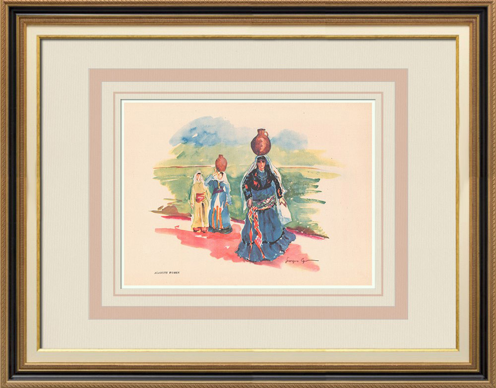 Antique Prints & Drawings | Alaouite women - Syria - Occidental Asia | Print | 1939