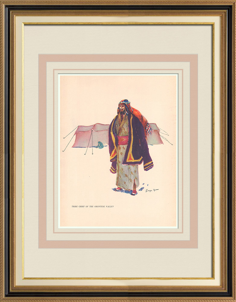 Antique Prints & Drawings | Tribe chief from the plain of Orontes - Lebanon - Near East | Print | 1939