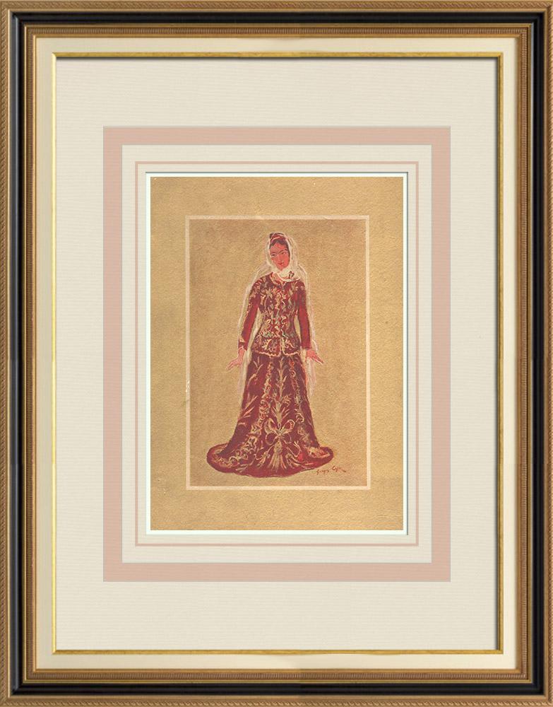 Antique Prints & Drawings | Court-dress - Marriage - Lebanon - XIXth Century | Print | 1939