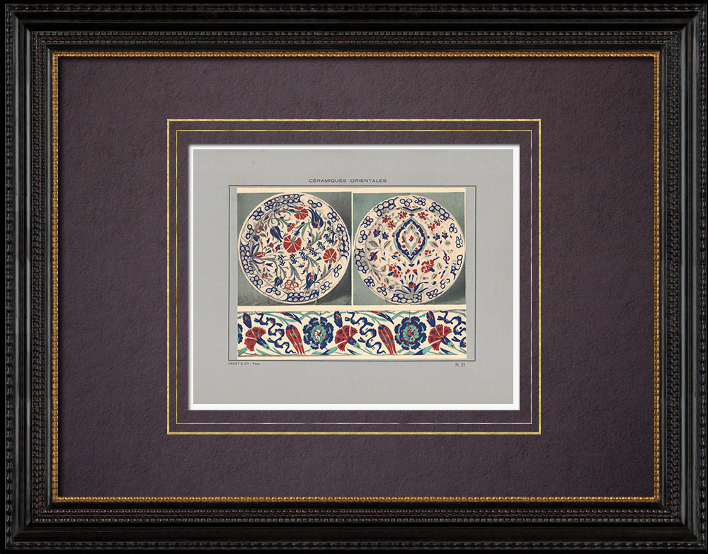 Antique Prints & Drawings | Oriental ceramics - Dish - Asia Minor - XVIth Century | Print | 1920