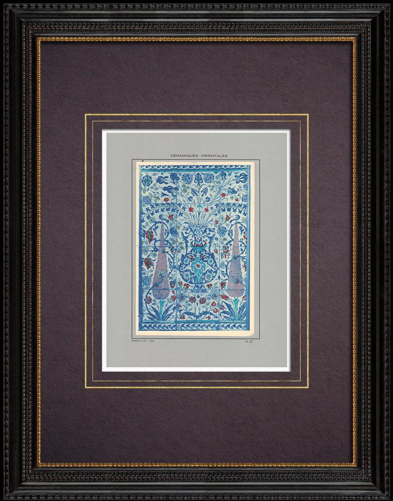 Gravures Anciennes & Dessins | Céramiques orientales - Carrelage - Faïence - Asie Mineure - XVIème Siècle - XVIIème Siècle | Impression | 1920