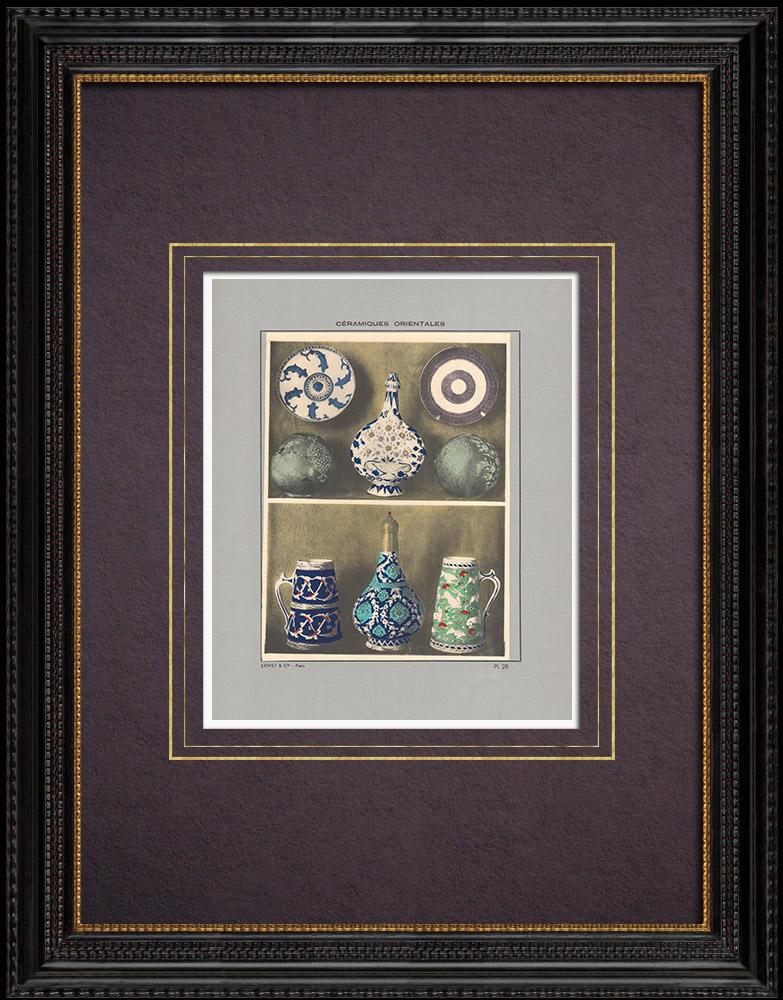 Gravures Anciennes & Dessins | Céramiques orientales - Poterie - Faïence - Porcelaine de Perse - Du XVIe au XVIIIe siècle | Impression | 1920