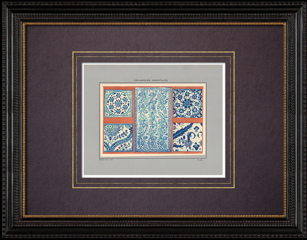 Antique Prints & Drawings | Oriental ceramics - Tiles - Faience - Asia Minor - XVIth Century - XVIIth Century | Print | 1920