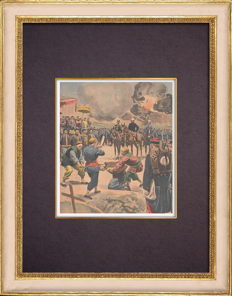 Antique Prints & Drawings   China Expedition - Execution in Pao-Tin-Fou - China - 1901   Wood engraving   1901