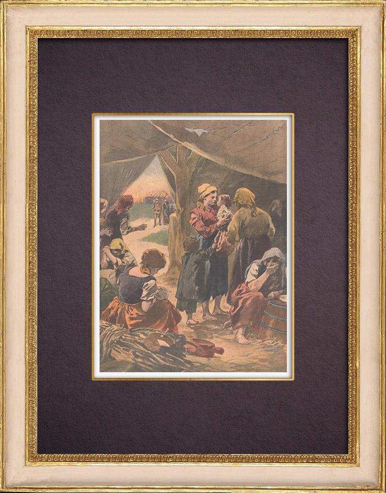 Antique Prints & Drawings | Transvaal War - Women Prisoners Boers - Port Elizabeth - 1901 | Wood engraving | 1901