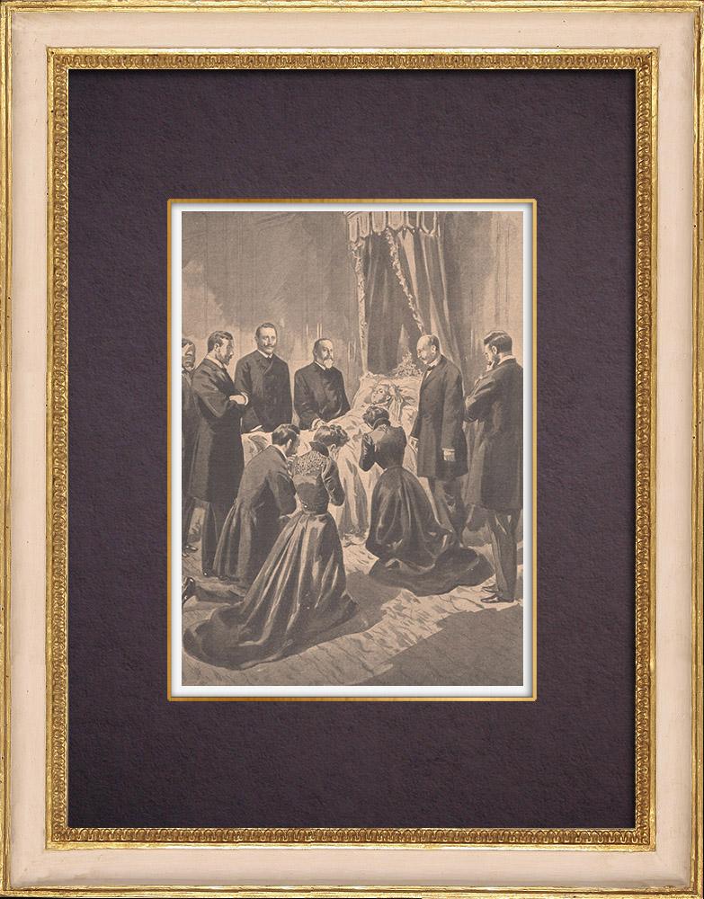 Gravures Anciennes & Dessins | Mort de la Reine Victoria - 1901 | Gravure sur bois | 1901