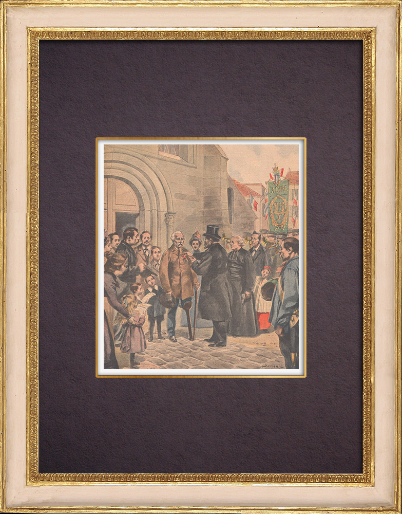 Antique Prints & Drawings | A soldier rewarded late - France - 1901 | Wood engraving | 1901