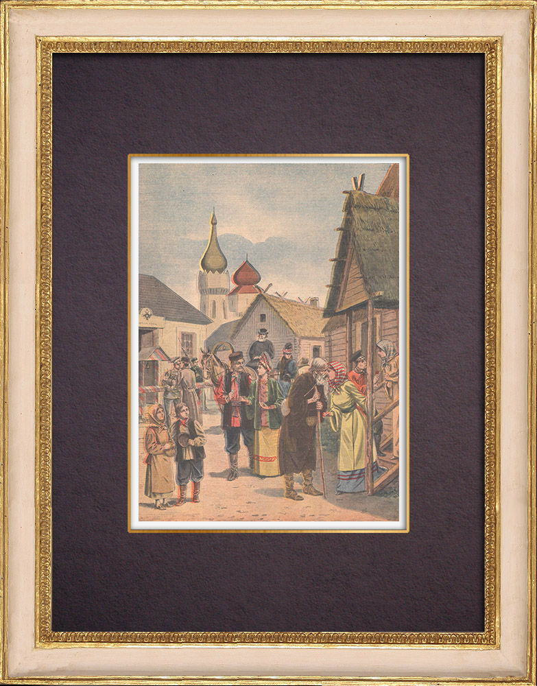 Antique Prints & Drawings | Easter in Russia - 1901 | Wood engraving | 1901