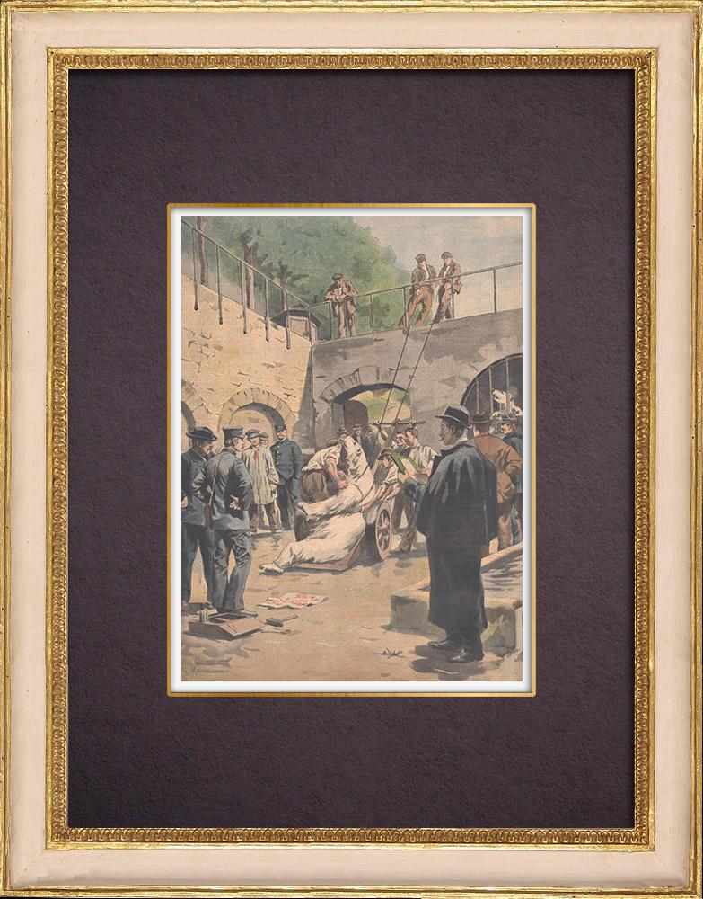 Gravures Anciennes & Dessins | Mort de l'ours Martin au Jardin des Plantes - Paris - 1901 | Gravure sur bois | 1901