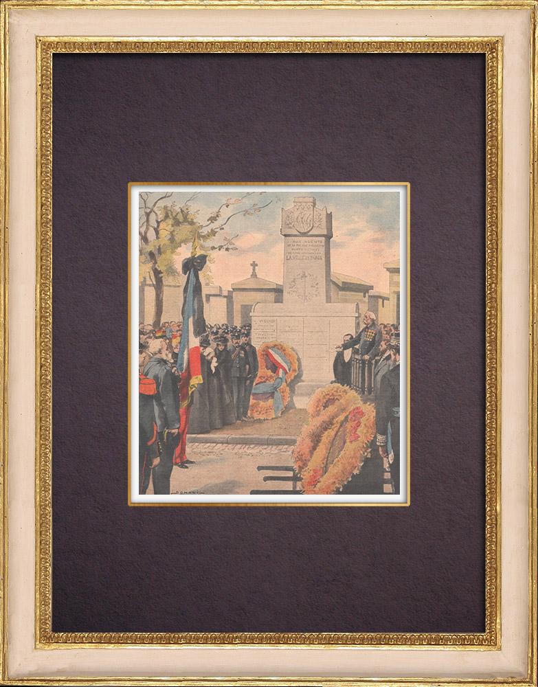 Gravures Anciennes & Dessins | Monument de la ville de Paris aux Victimes du Devoir - Cimetière Montparnasse - Paris - 1901 | Gravure sur bois | 1901