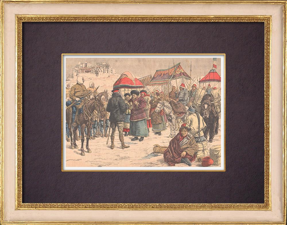 Antique Prints & Drawings | British expedition to Tibet - Khamba Jong - 1904 | Wood engraving | 1904