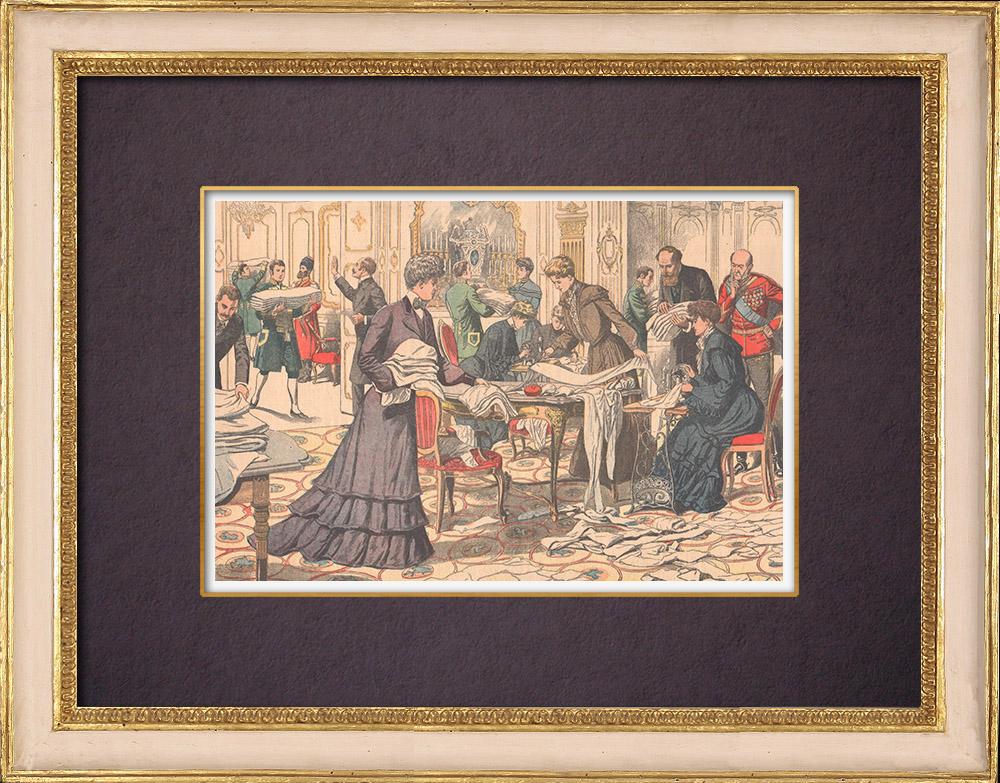 Gravures Anciennes & Dessins | Ouvroir Impérial du Palais d'Hiver à Saint-Pétersbourg - Russie - 1904 | Gravure sur bois | 1904