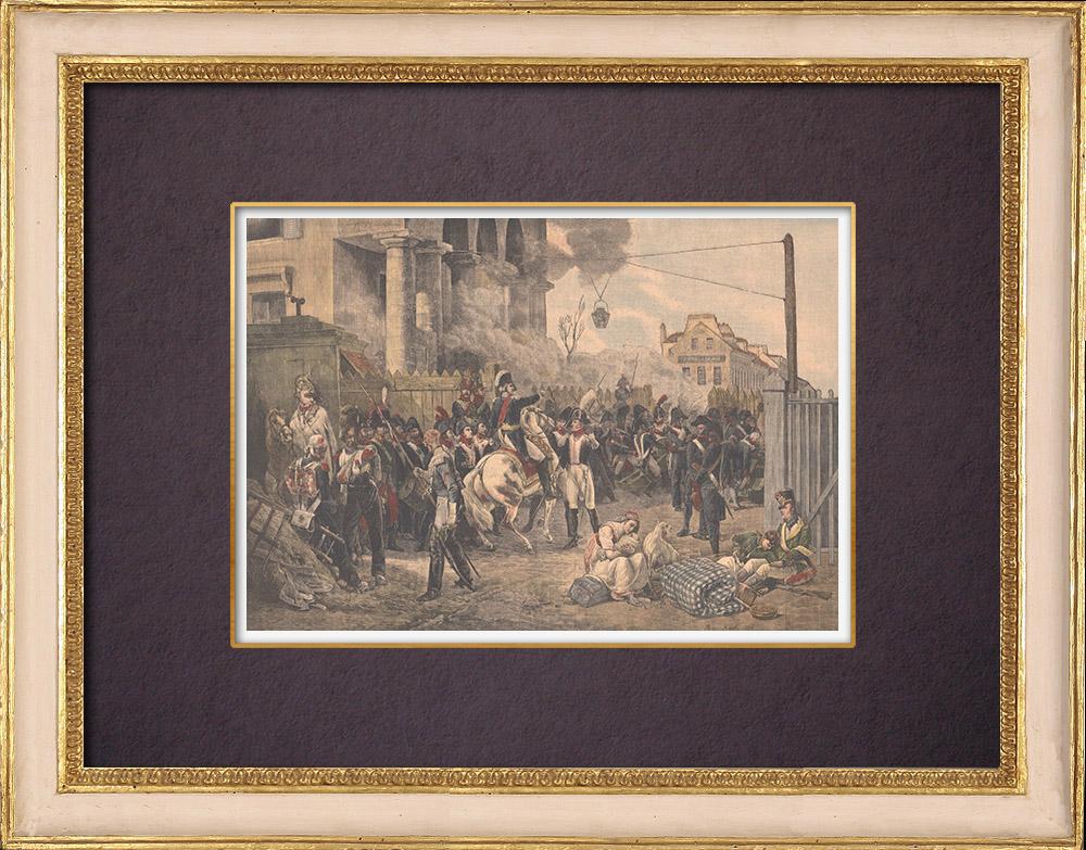 Gravures Anciennes & Dessins | Peinture - La Barrière de Clichy. Défense de Paris - Horace Vernet - 1814 | Gravure sur bois | 1904