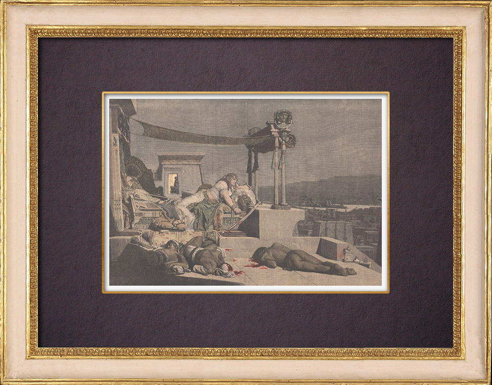 Gravures Anciennes & Dessins | Les Porteurs de mauvaises nouvelles - Peinture française - Lecomte du Nouÿ - 1871 | Gravure sur bois | 1904