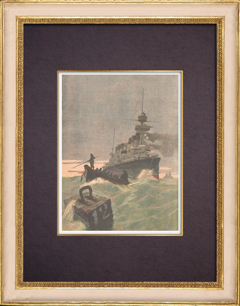Antique Prints & Drawings | The armoured cruiser Jeanne d'Arc returns to port - Toulon - France - 1904 | Wood engraving | 1904