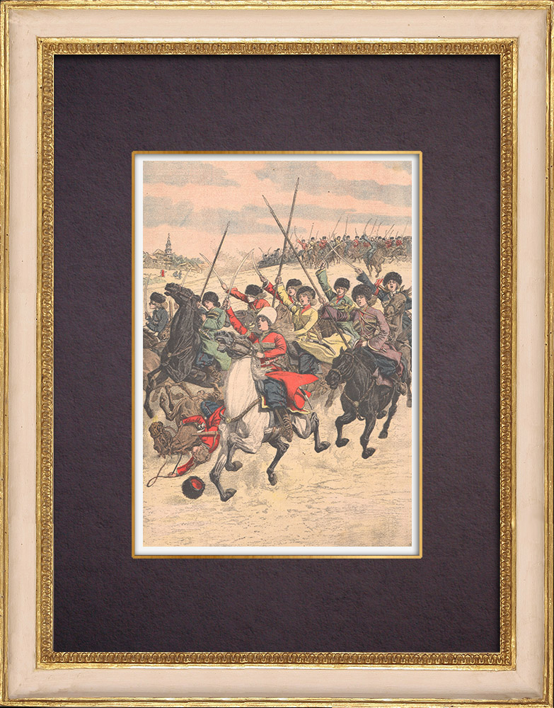 Antique Prints & Drawings | A sotnia of Cossack women in Ussuriisk plain - Russia - 1904 | Wood engraving | 1904