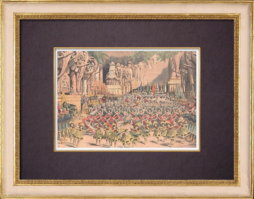 Antique Prints & Drawings | Monsieur Polichinelle - Ballet at the Théâtre du Châtelet - Paris - 1904 | Wood engraving | 1904