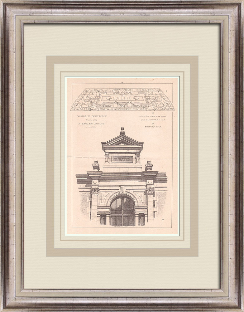 Antique Prints & Drawings | Theater - Châteaudun - France (Charles-Emile Vaillant) | Print | 1900