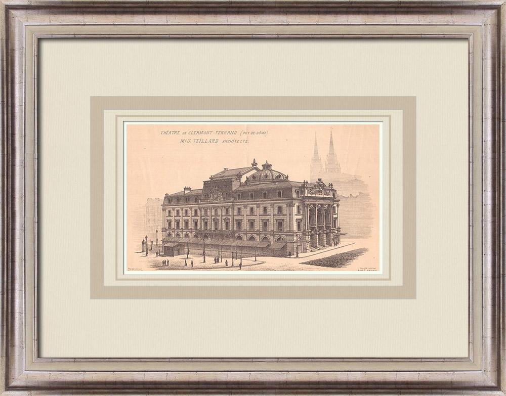 Antique Prints & Drawings | Theater - Clermont-Ferrand - France (Jean Teillard) | Print | 1900