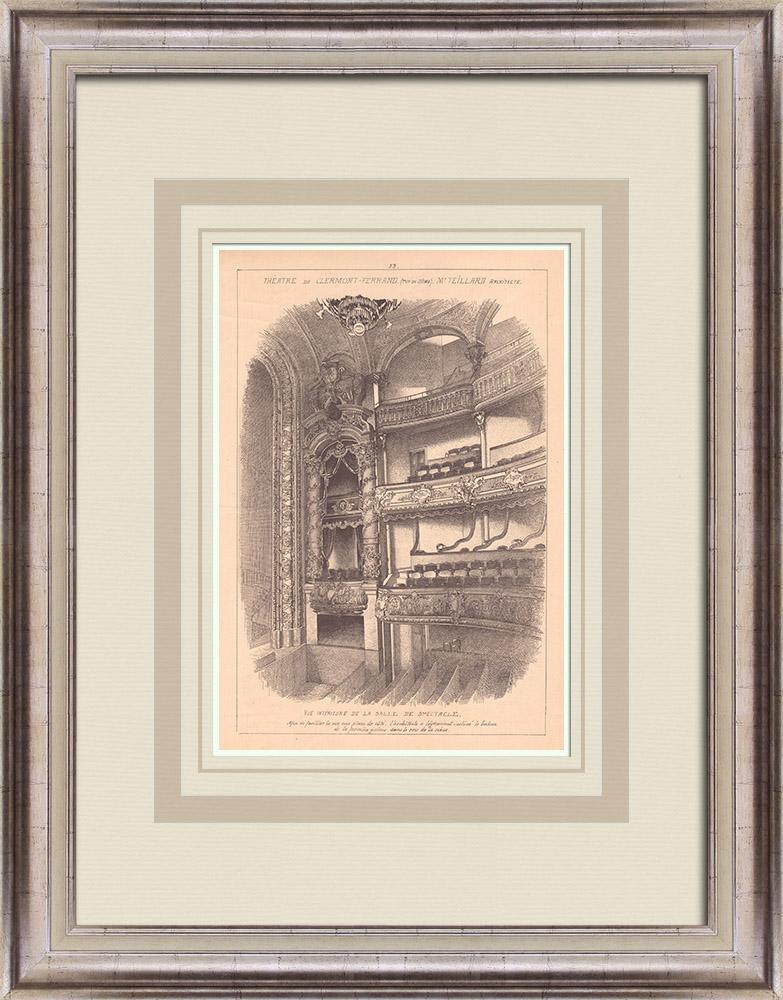 Antique Prints & Drawings   Theater - Clermont-Ferrand - France (Jean Teillard)   Print   1900