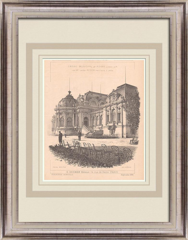 Gravures Anciennes & Dessins | Casino de Royan - France (Gaston Redon architecte) | Impression | 1900