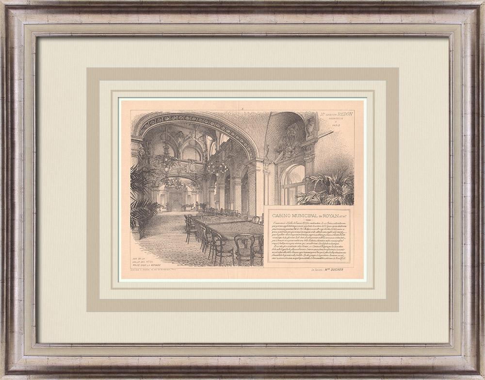 Antique Prints & Drawings | Casino - Royan - France (Gaston Redon) | Print | 1900