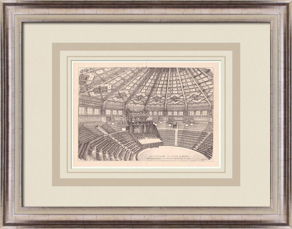 Gravures Anciennes & Dessins | Cirque d'Amiens - Intérieur - France (Emile Ricquier architecte) | Impression | 1900