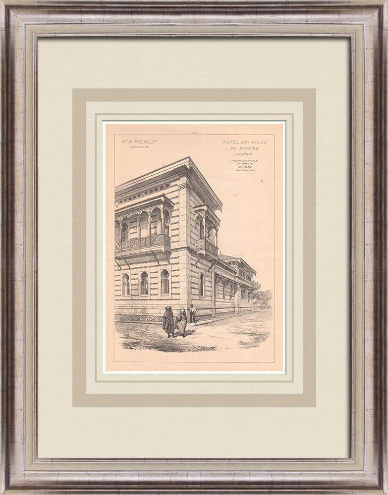 Antique Prints & Drawings | City Hall - Biskra - Algeria (A. Pierlot) | Print | 1900