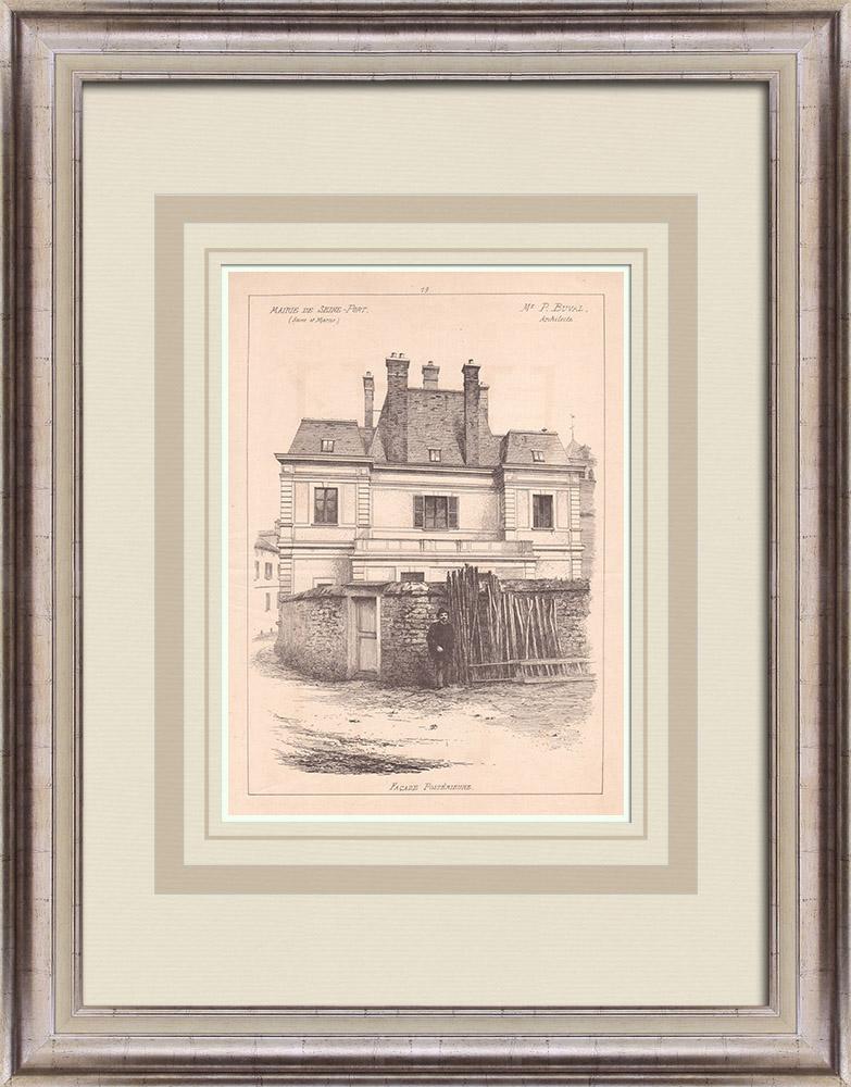 Antique Prints & Drawings   City Hall - Seine-Port - Île-de-France (M. Buval)   Print   1900