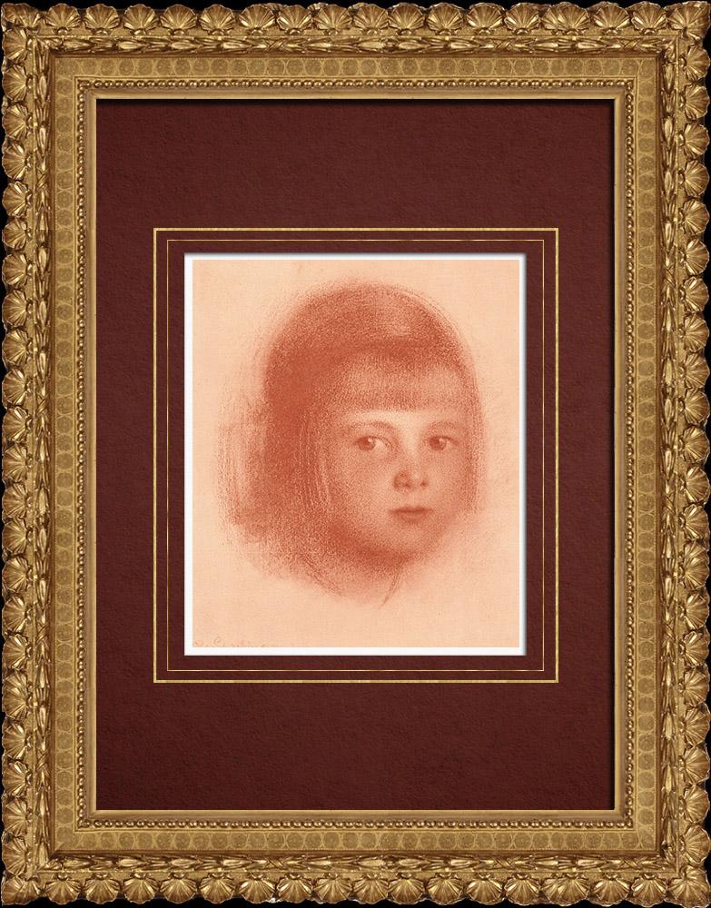 Gravures Anciennes & Dessins   Portrait d'un Enfant (Walther Schachinger) 3/8   Lithographie   1920