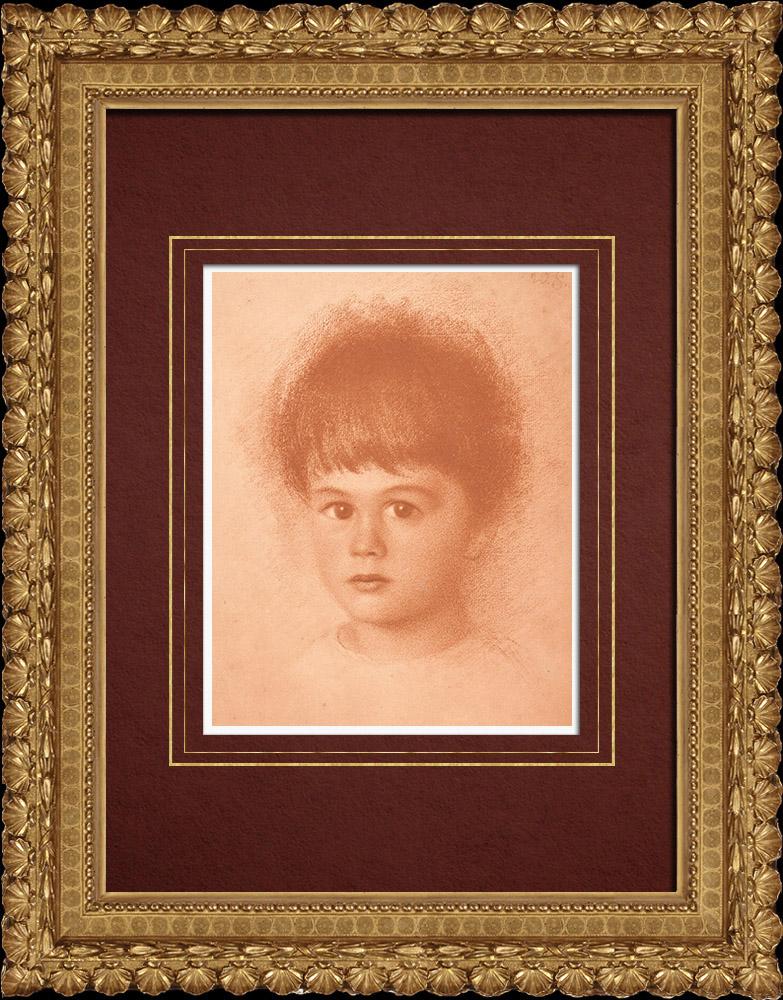 Gravures Anciennes & Dessins   Portrait d'un Enfant (Walther Schachinger) 4/8   Lithographie   1920