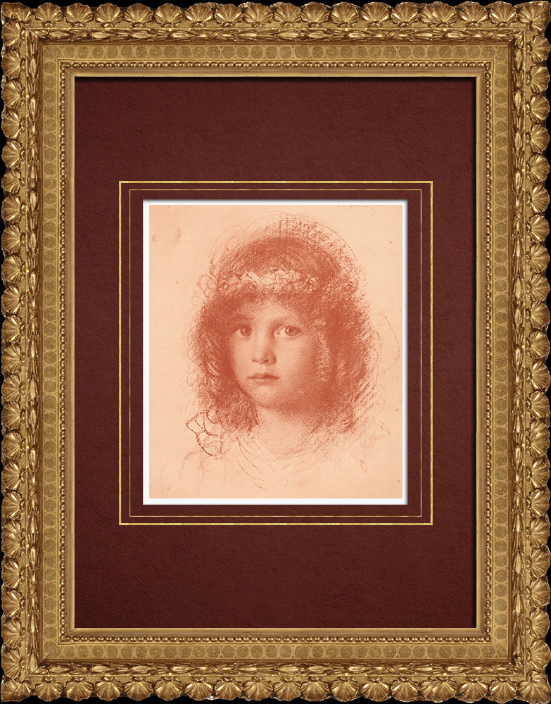Antique Prints & Drawings | Portrait of a Child (Walther Schachinger) 5/8 | Lithography | 1920
