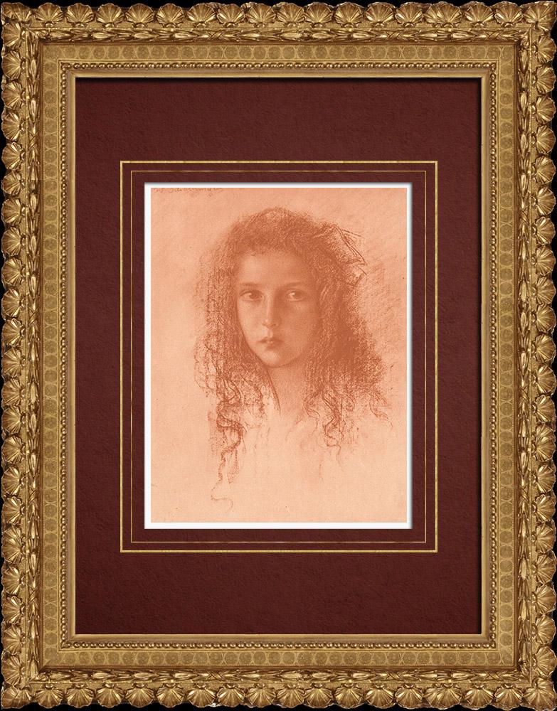 Gravures Anciennes & Dessins | Portrait d'un Enfant (Walther Schachinger) 6/8 | Lithographie | 1920