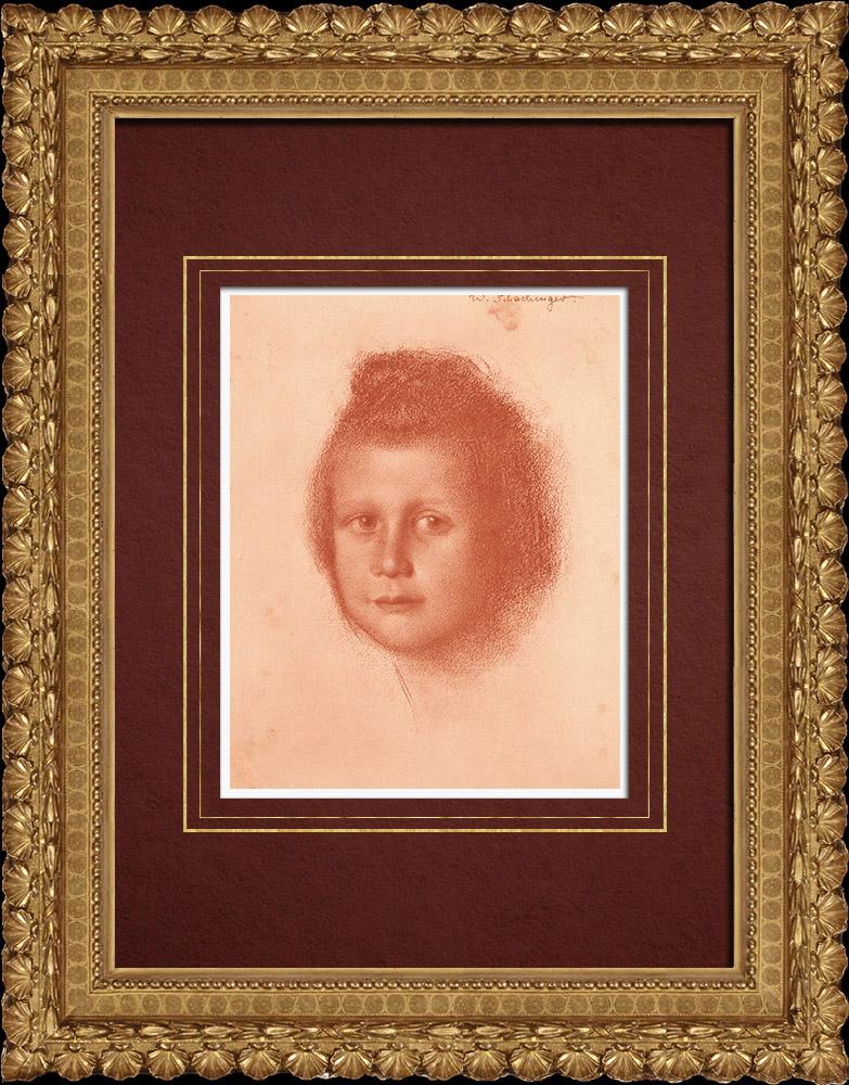 Gravures Anciennes & Dessins | Portrait d'un Enfant (Walther Schachinger) 8/8 | Lithographie | 1920