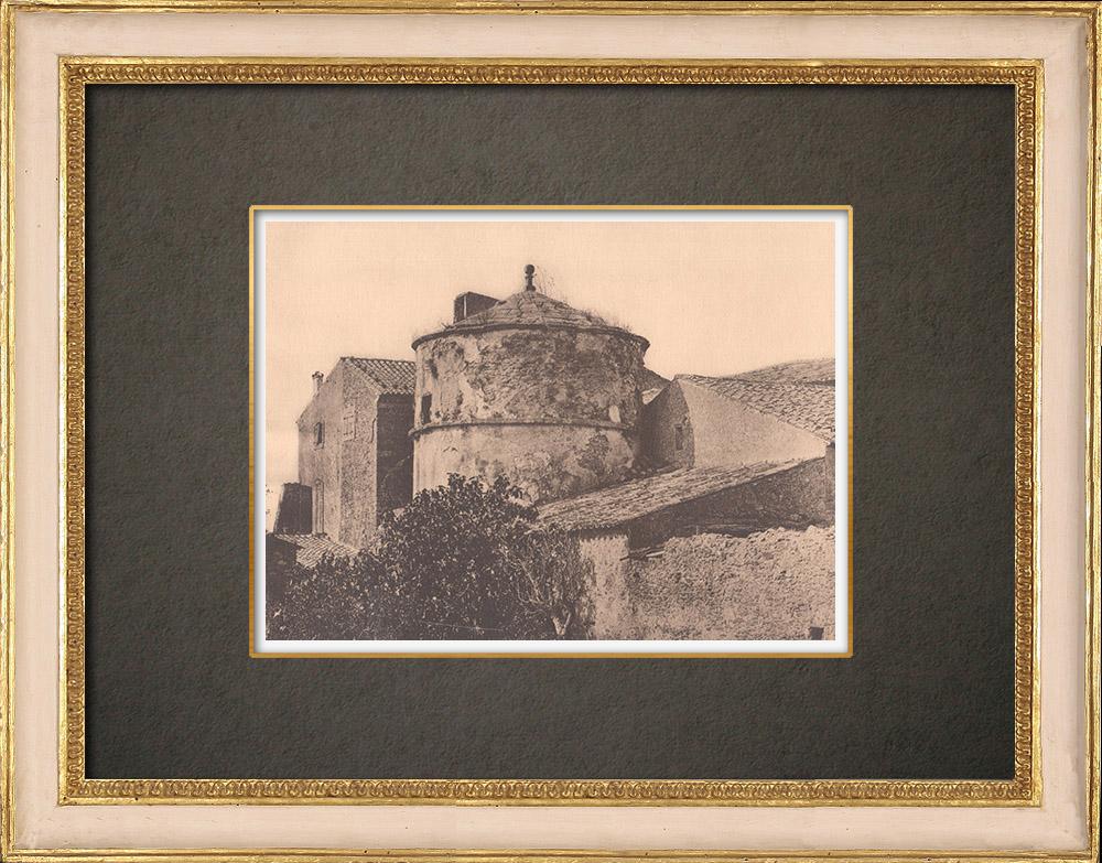Gravures Anciennes & Dessins | La Grande bastide de Lauris - Luberon - Vaucluse (France) | Phototypie | 1928