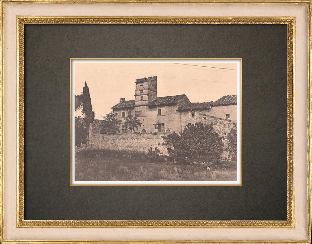 Antique Prints & Drawings   Farm in Saint Pierre du Terme close to Avignon - Vaucluse (France)   Phototypie   1928