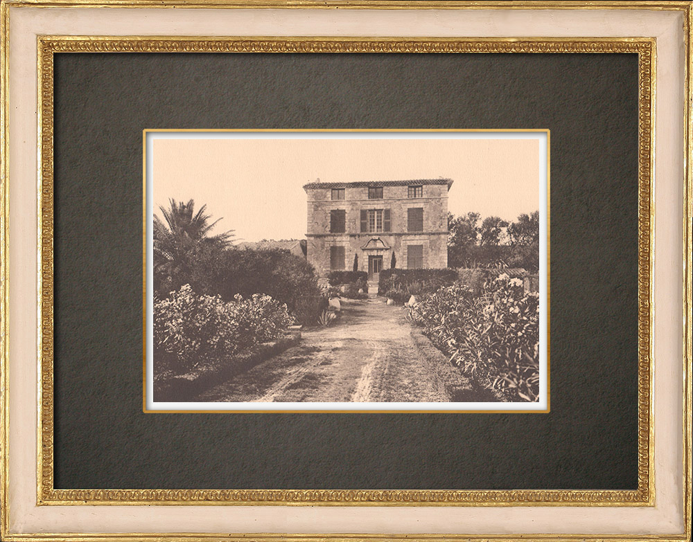 Antique Prints & Drawings | A bastide at Martigues - Provence (France) | Phototypie | 1928